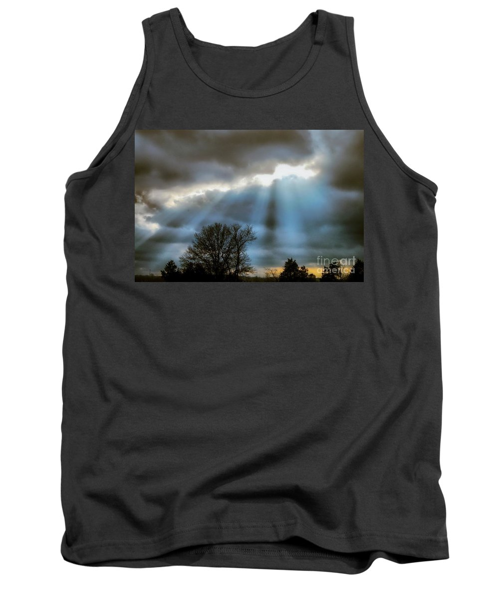 Tank Top featuring the photograph Break In The Storm by Peggy Franz