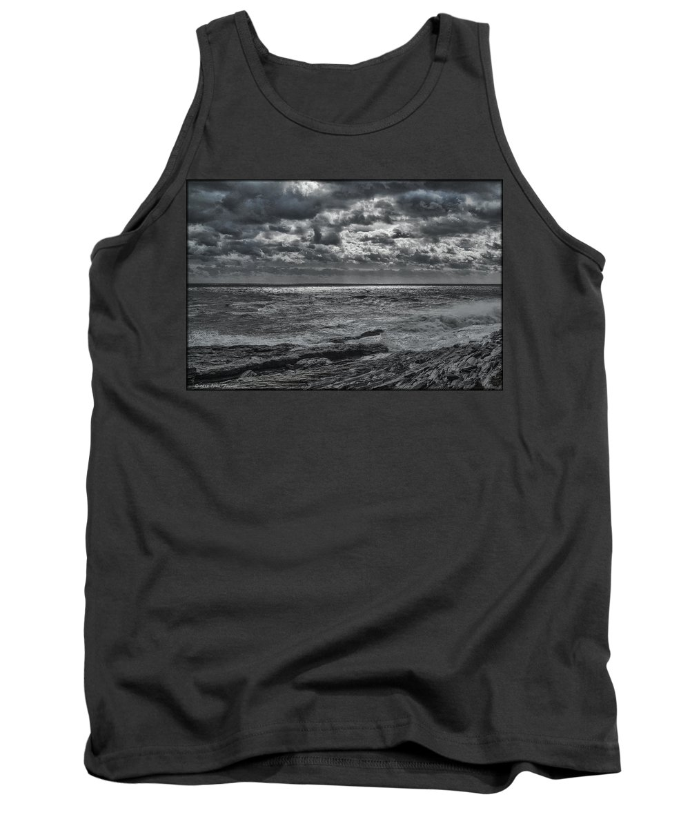 Water Tank Top featuring the photograph Breaking Sun by Erika Fawcett