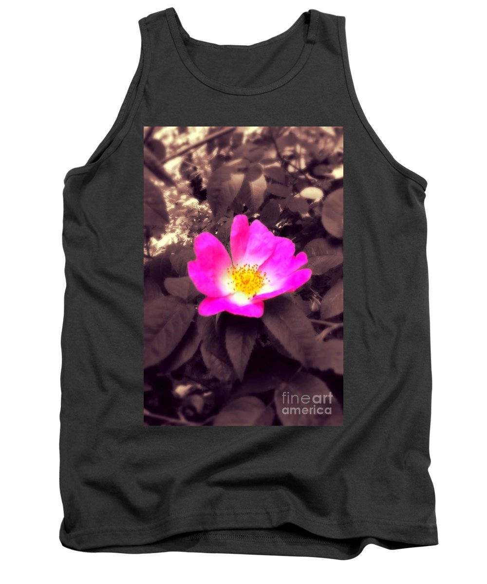 Rose Tank Top featuring the photograph Briar Rose by Joan-Violet Stretch