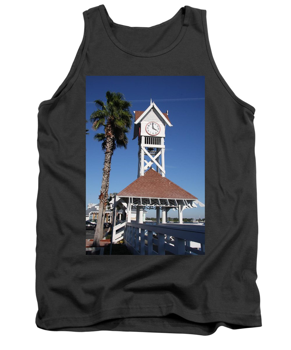 Pier Tank Top featuring the photograph Bridge Street Pier And Clocktower by Christiane Schulze Art And Photography
