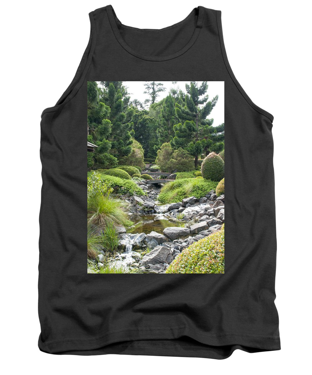Au Tank Top featuring the photograph Bridges In The Japense Garden by Rodney Appleby