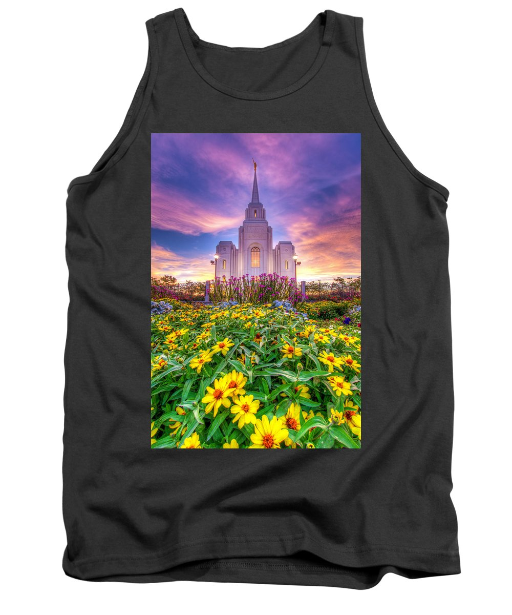 Temple Tank Top featuring the photograph Brigham City Temple by Dustin LeFevre