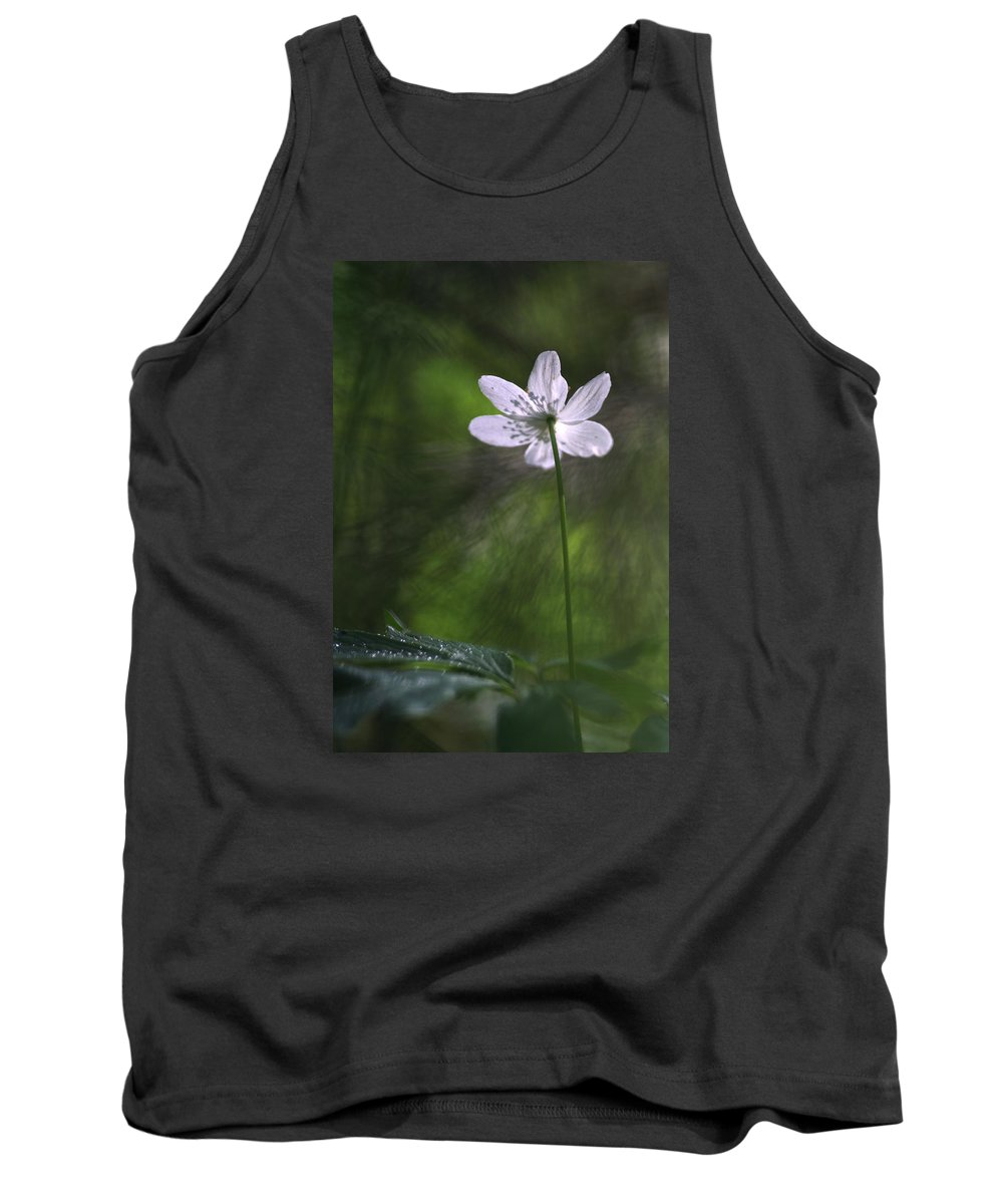 Photo Tank Top featuring the photograph Bright Light Flower by Dreamland Media