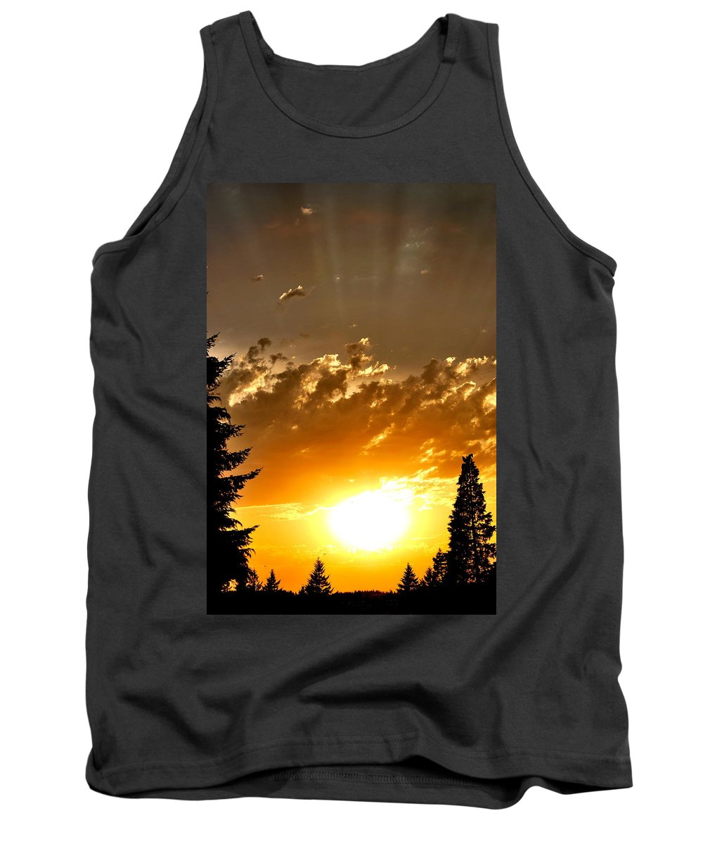 Sunset Tank Top featuring the photograph Brilliance by Kathy Sampson