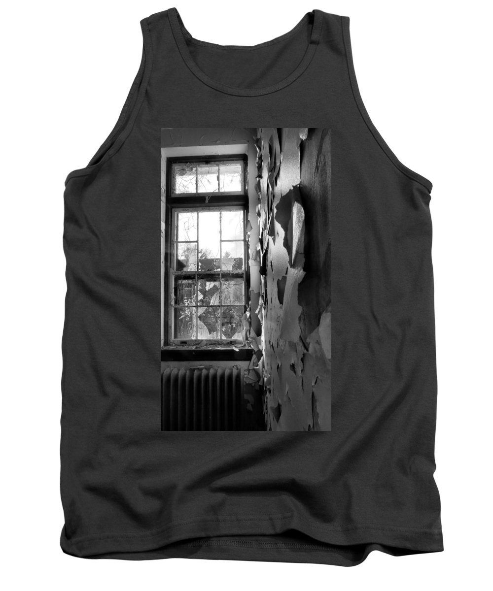 Window Tank Top featuring the photograph Broken Glass by Art Dingo