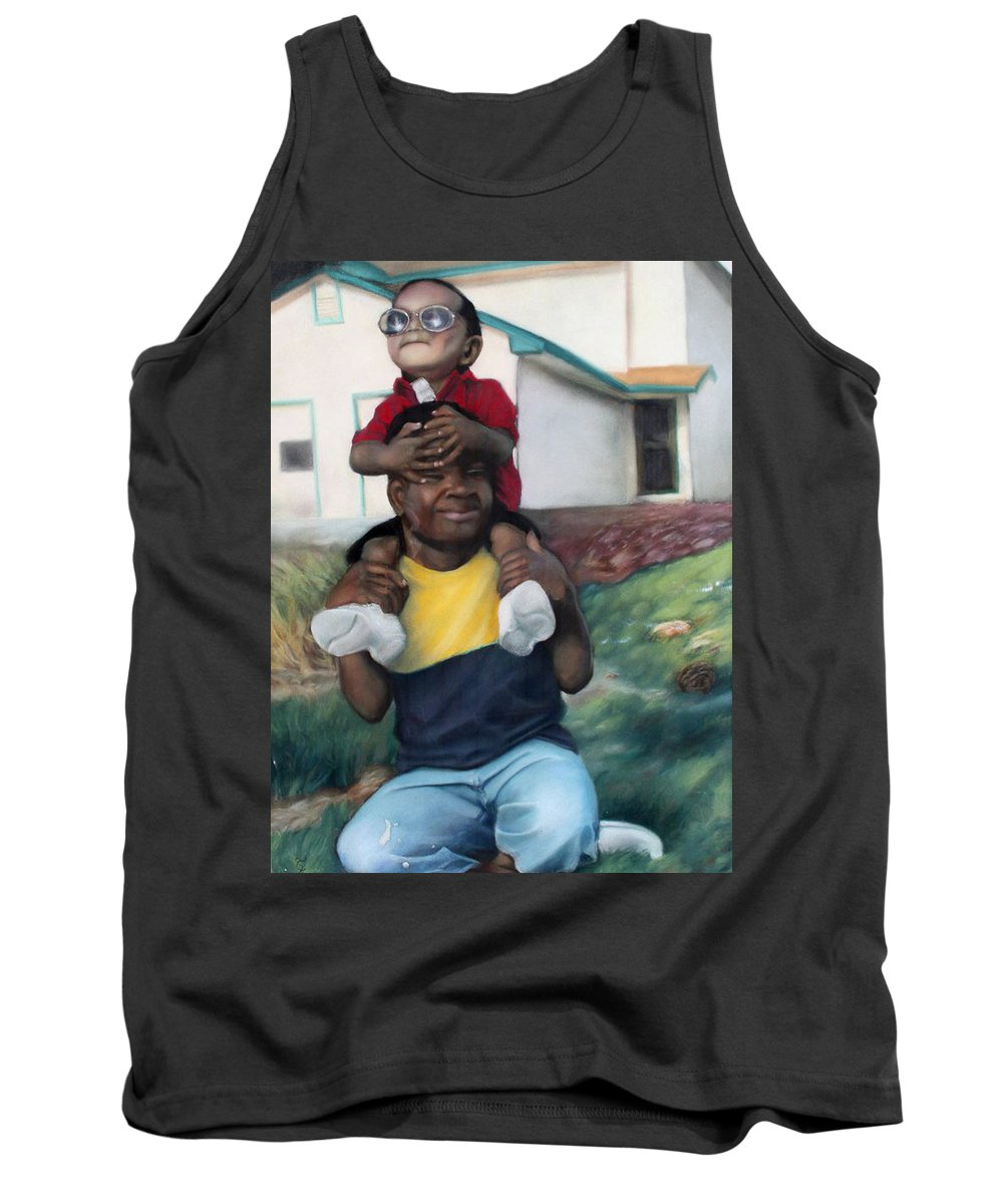 Brothers Tank Top featuring the pastel Brothers by Timothy Loyd