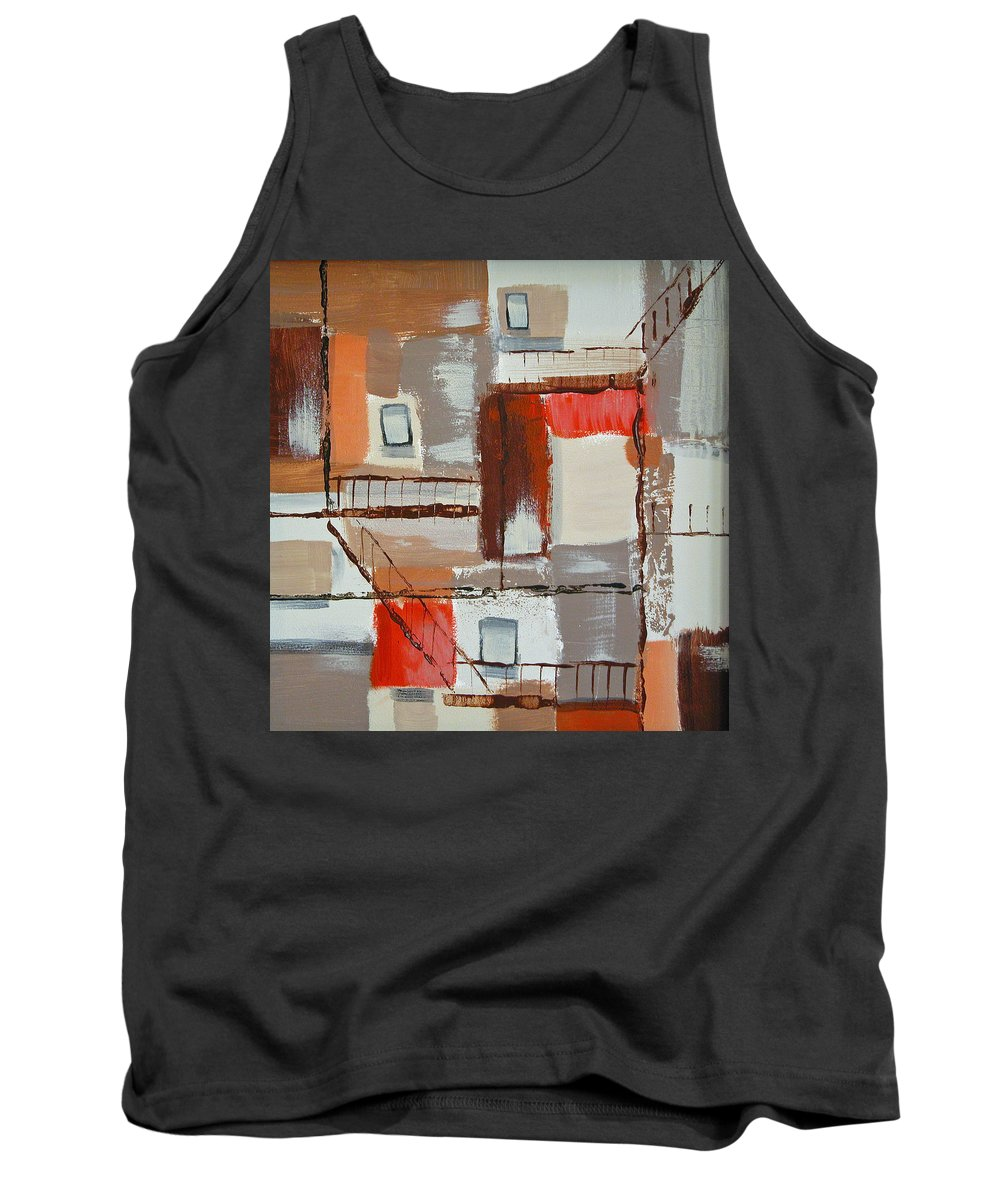 Alley Tank Top featuring the painting Brown Alley 1 by Rhodes Rumsey