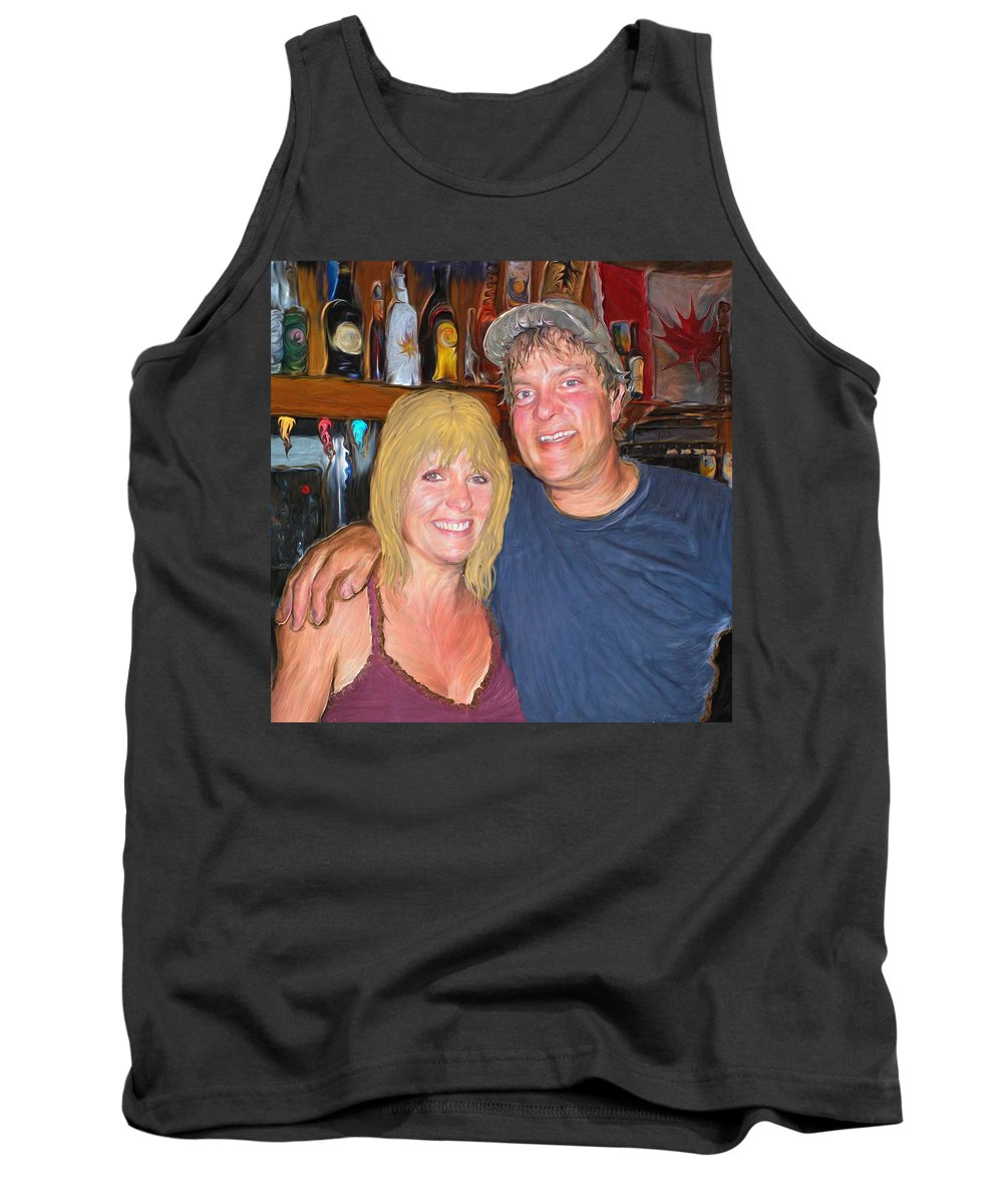 Island Tank Top featuring the painting Bruce And Joy by Hidden Mountain