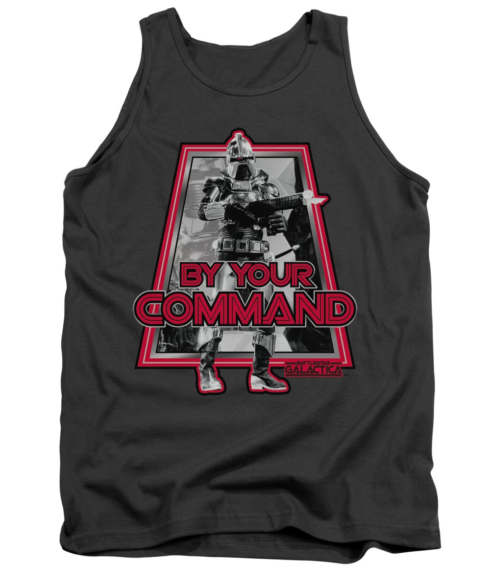 Battlestar Tank Top featuring the digital art Bsg - By Your Command(classic) by Brand A