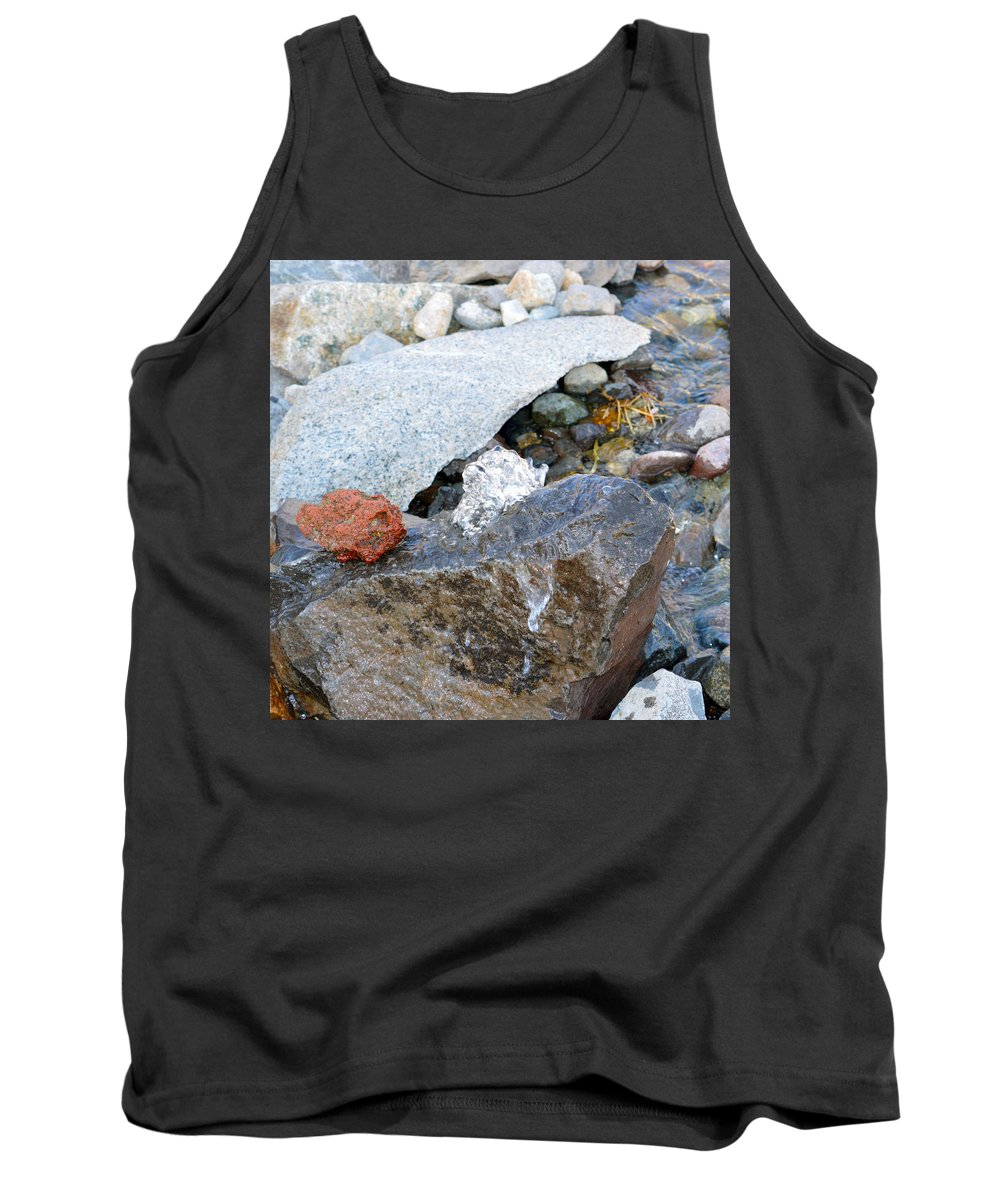 Water Tank Top featuring the photograph Bubbling Rock by Brent Dolliver