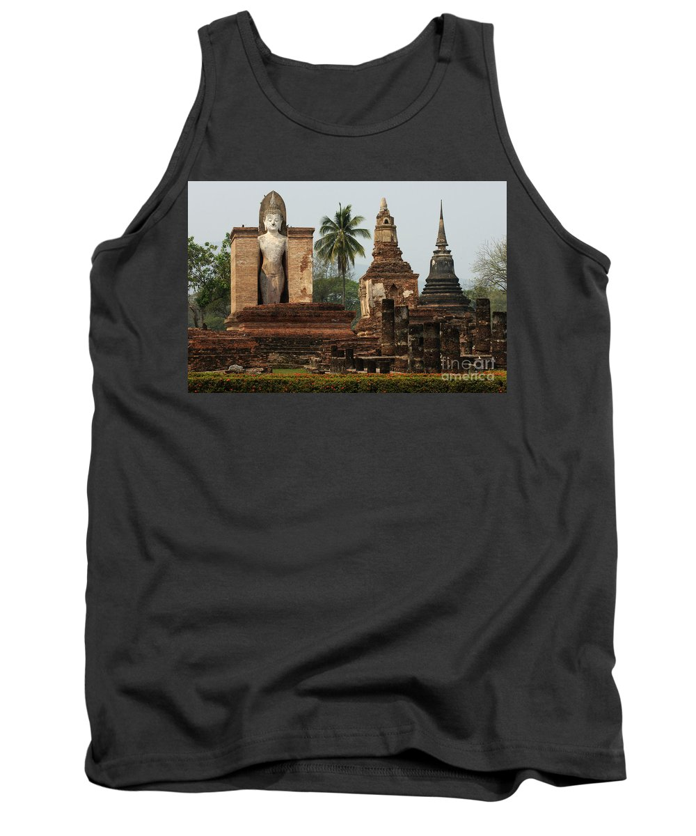 Sukhothai Tank Top featuring the photograph Buddha Sukhothai Thailand 2 by Bob Christopher