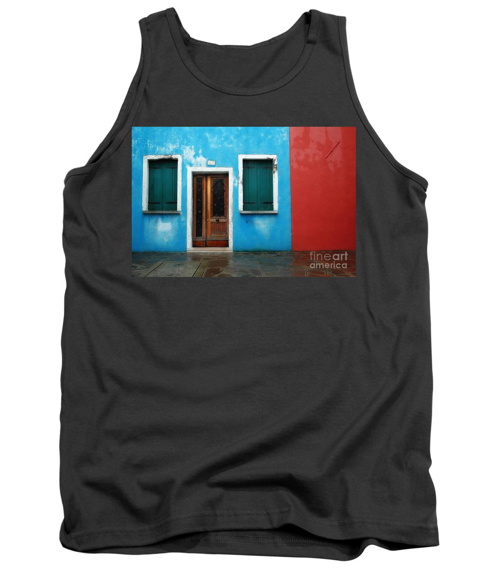 Burano Tank Top featuring the photograph Burano 7 by Mike Nellums