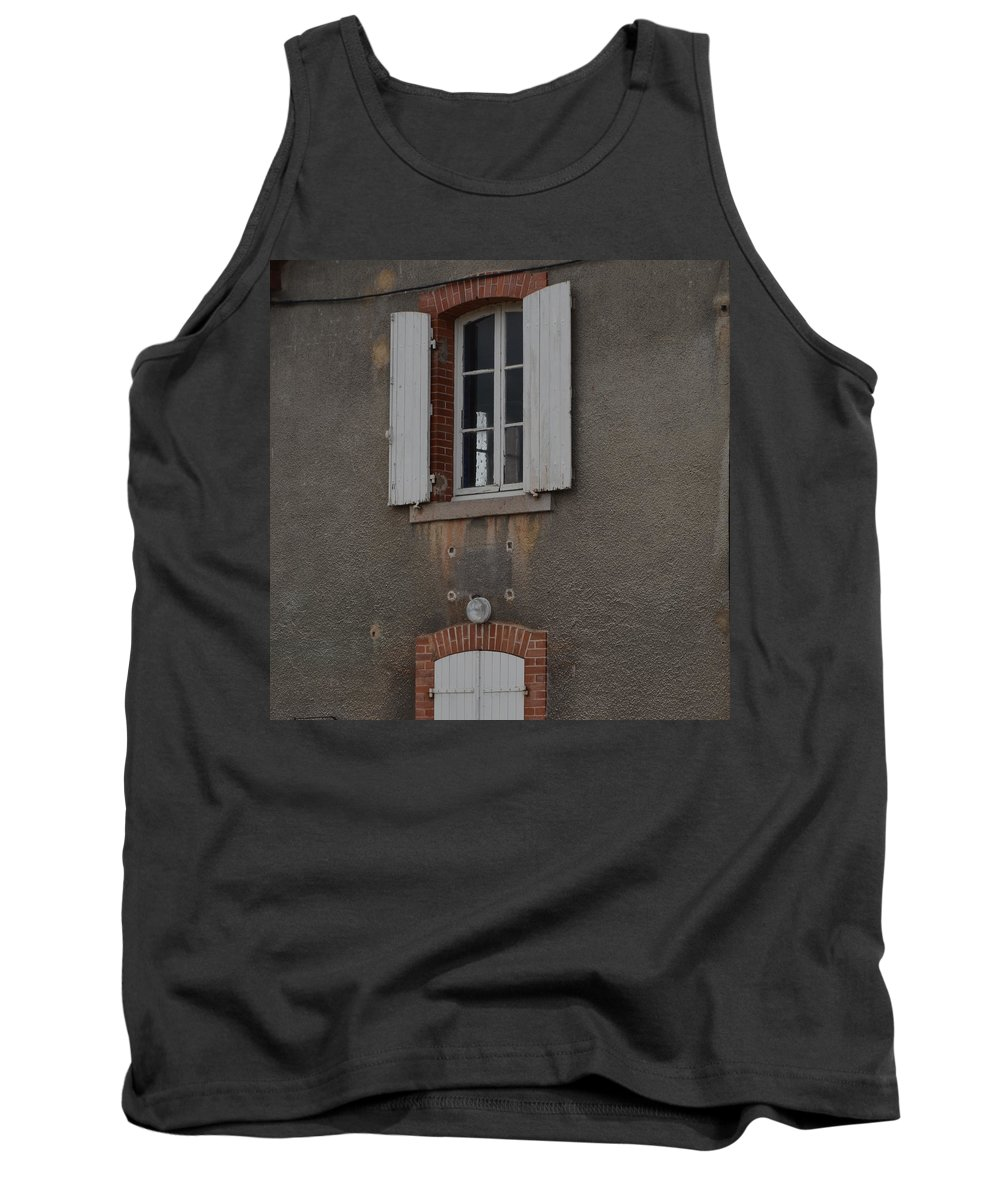 Burgundy Tank Top featuring the photograph By The Canal by Cheryl Miller