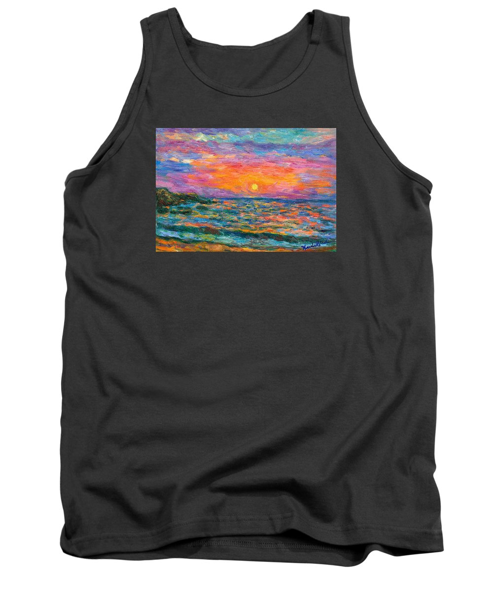 Ocean Tank Top featuring the painting Burning Shore by Kendall Kessler