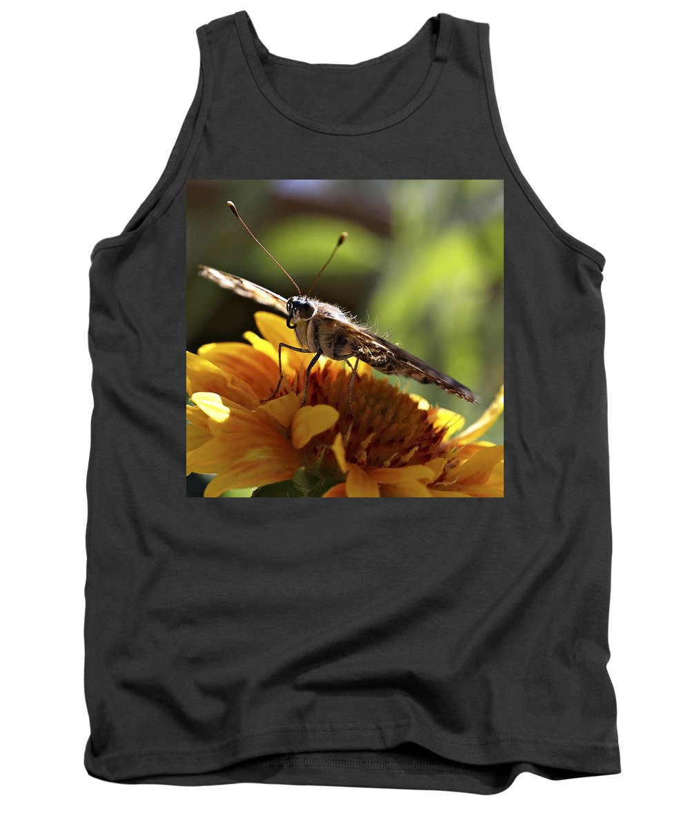 Butterfly Tank Top featuring the photograph Butterfly 004 by Ingrid Smith-Johnsen