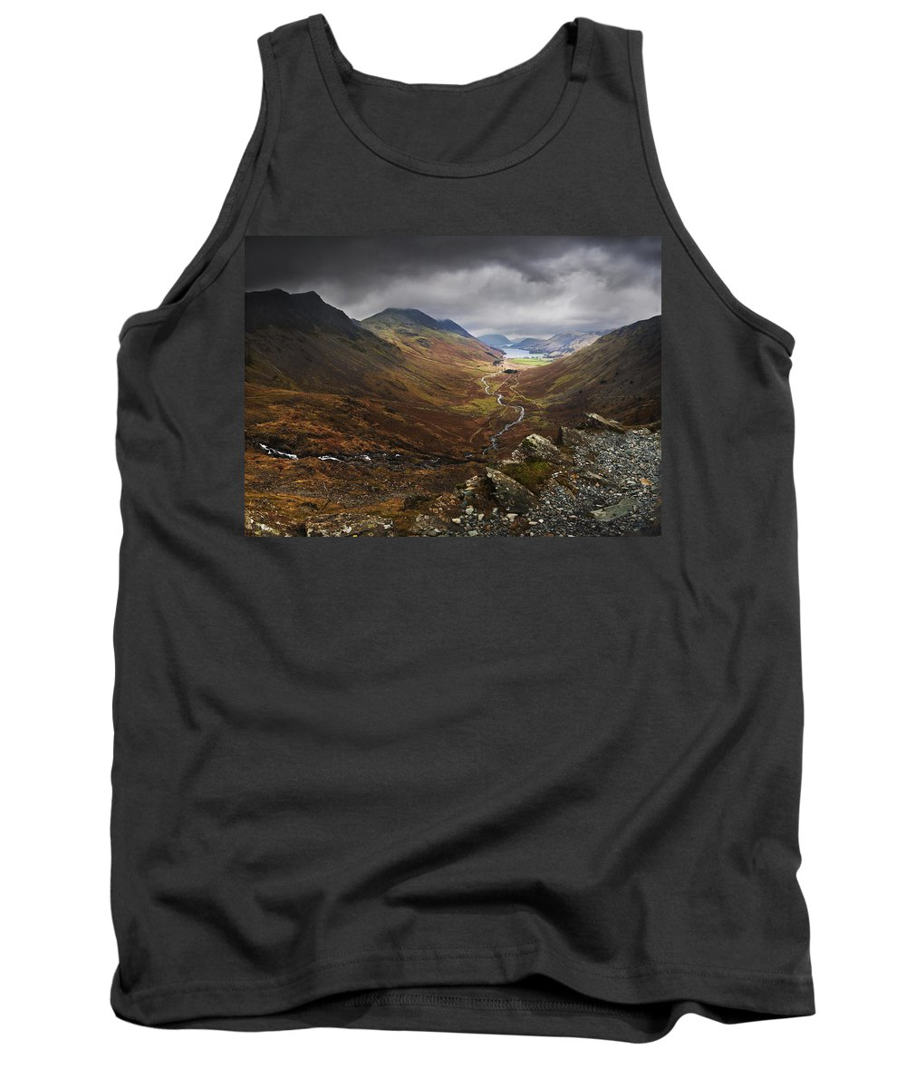 Lake District Tank Top featuring the photograph Buttermere Valley Autumn View by Nigel Forster