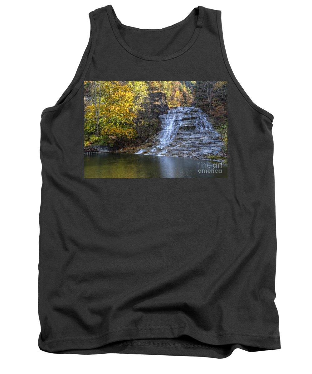 Buttermilk Creek Tank Top featuring the photograph Buttermilk Falls Autumn by Colin D Young