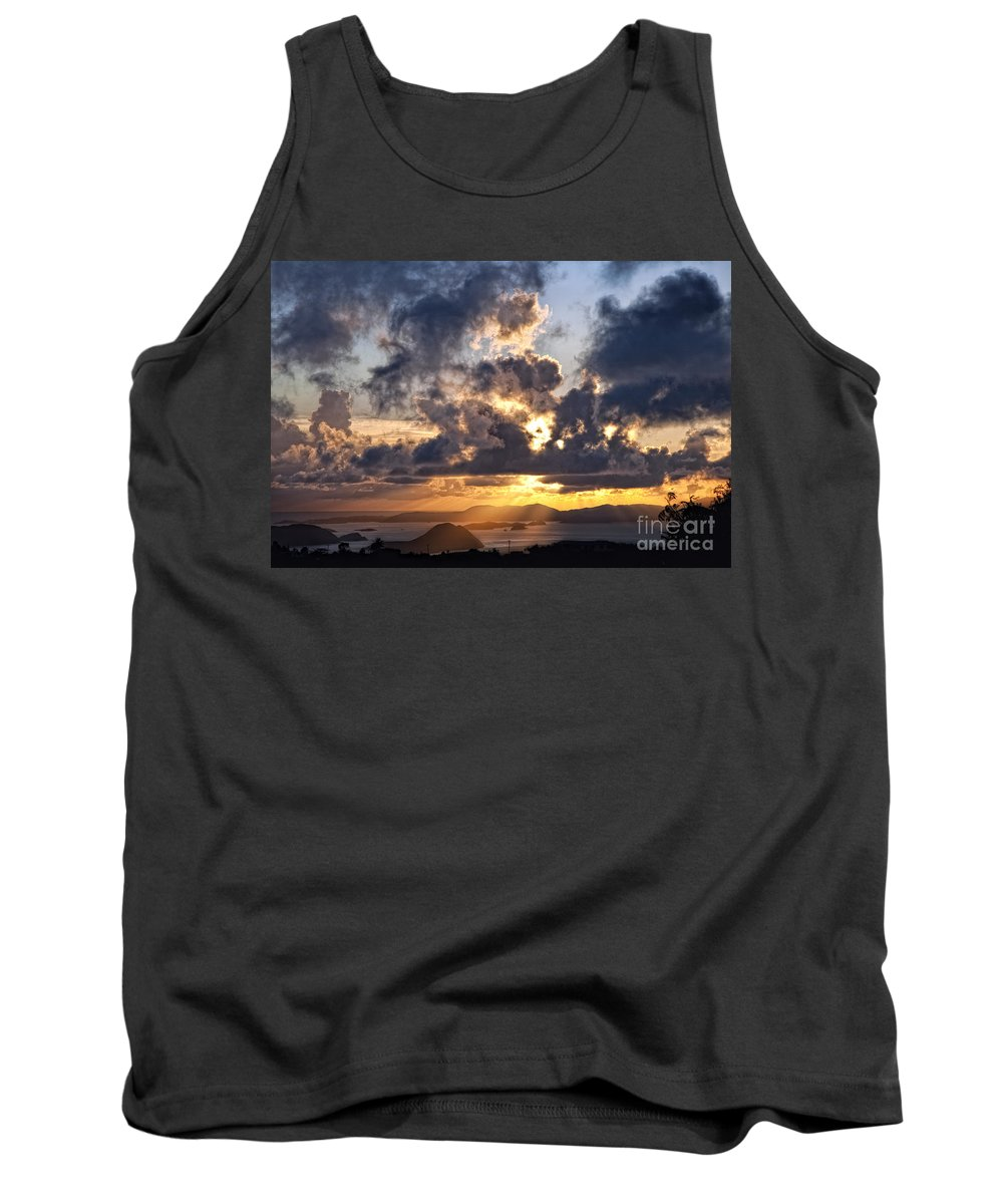 Bvi Tank Top featuring the photograph Bvi Sunset by Timothy Hacker
