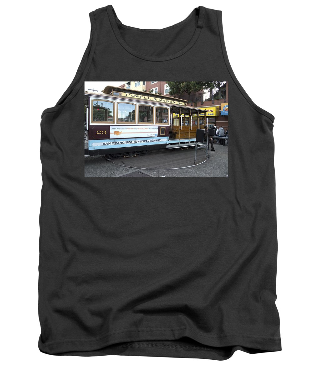 Photograph Tank Top featuring the photograph Cable Car Turn-around At Fisherman's Wharf No. 2 by Christopher Winkler