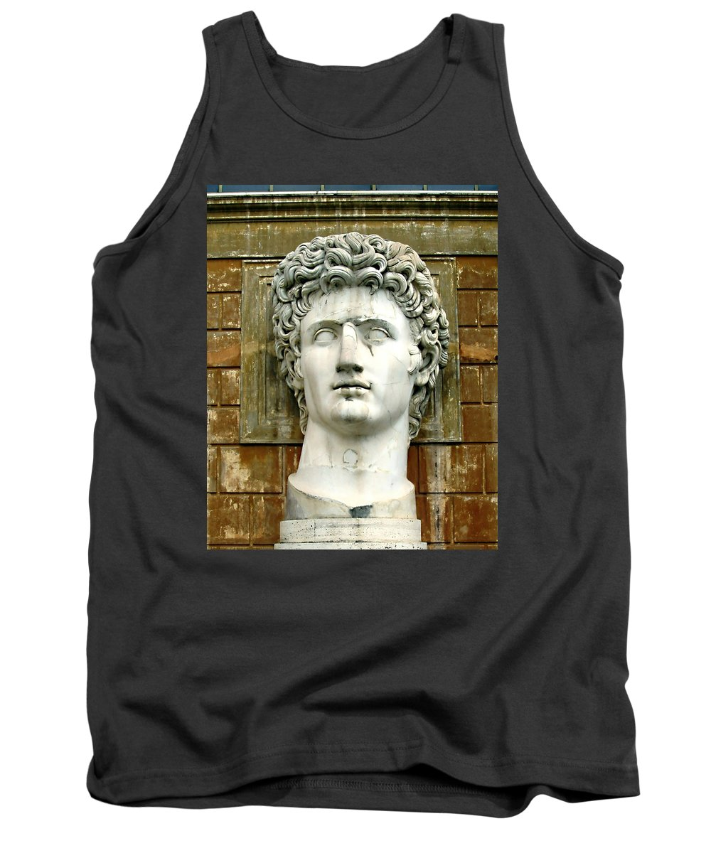 Caesar Augustus Tank Top featuring the photograph Caesar Augustus by Ellen Henneke