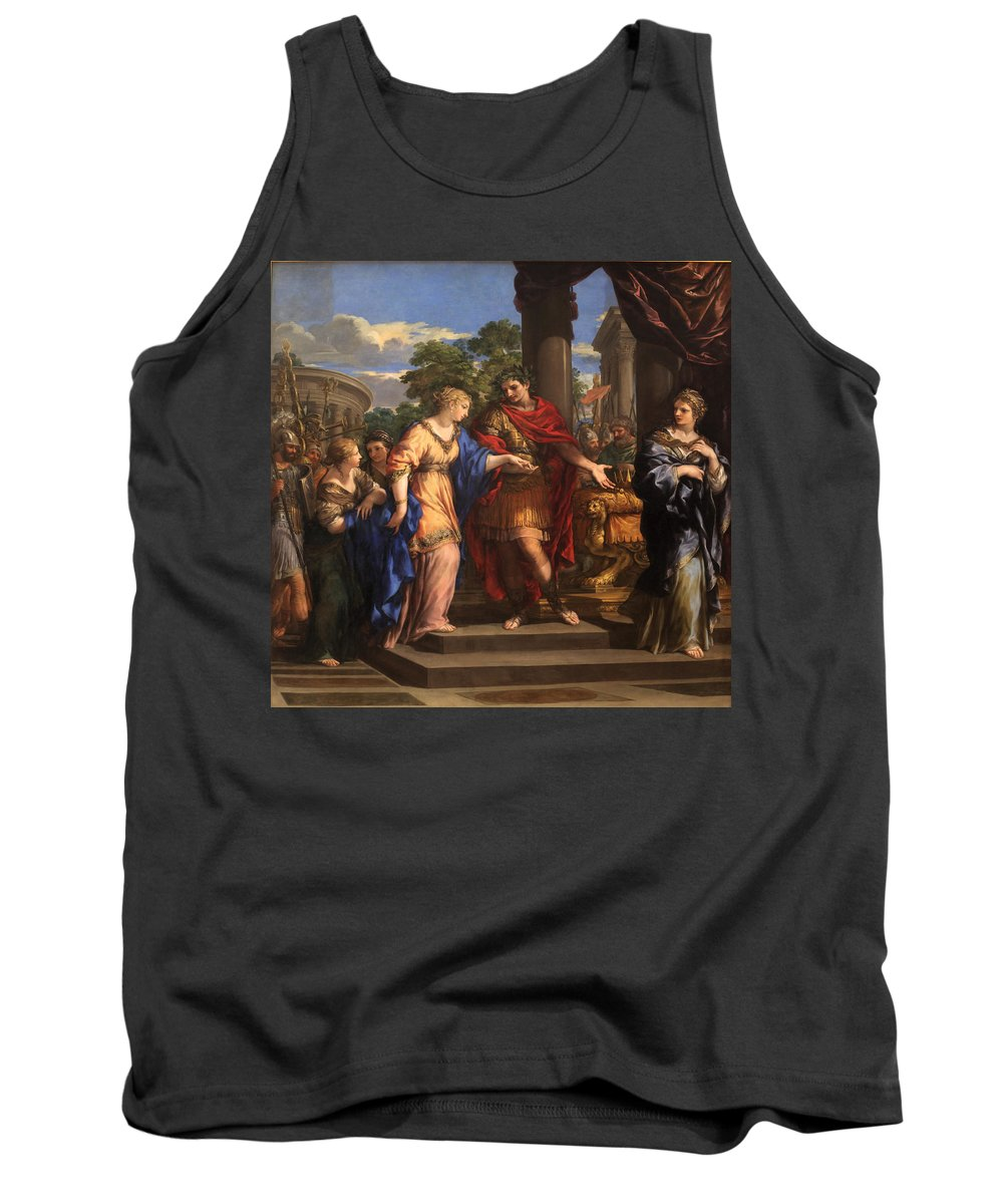 Julius Cesar Tank Top featuring the photograph Caesar Giving Cleopatra The Throne Of Egypt, C.1637 Oil On Canvas by Pietro da Cortona