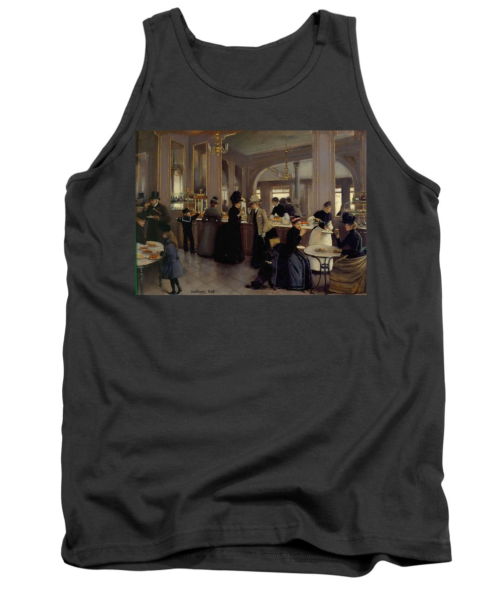 Jean Tank Top featuring the painting Cafe Gloppe by Jean Beraud