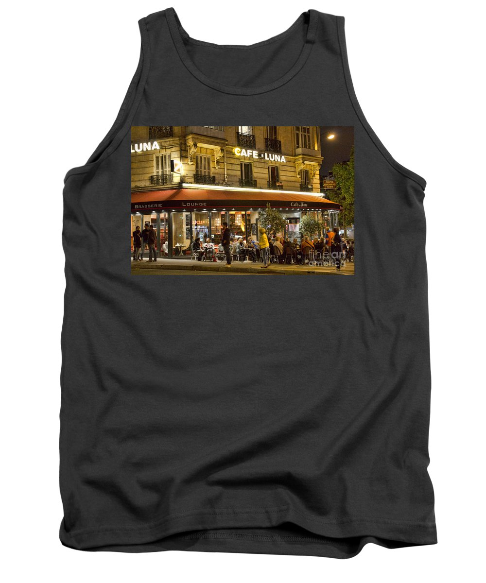 Europe Tank Top featuring the photograph Cafe Luna by Crystal Nederman