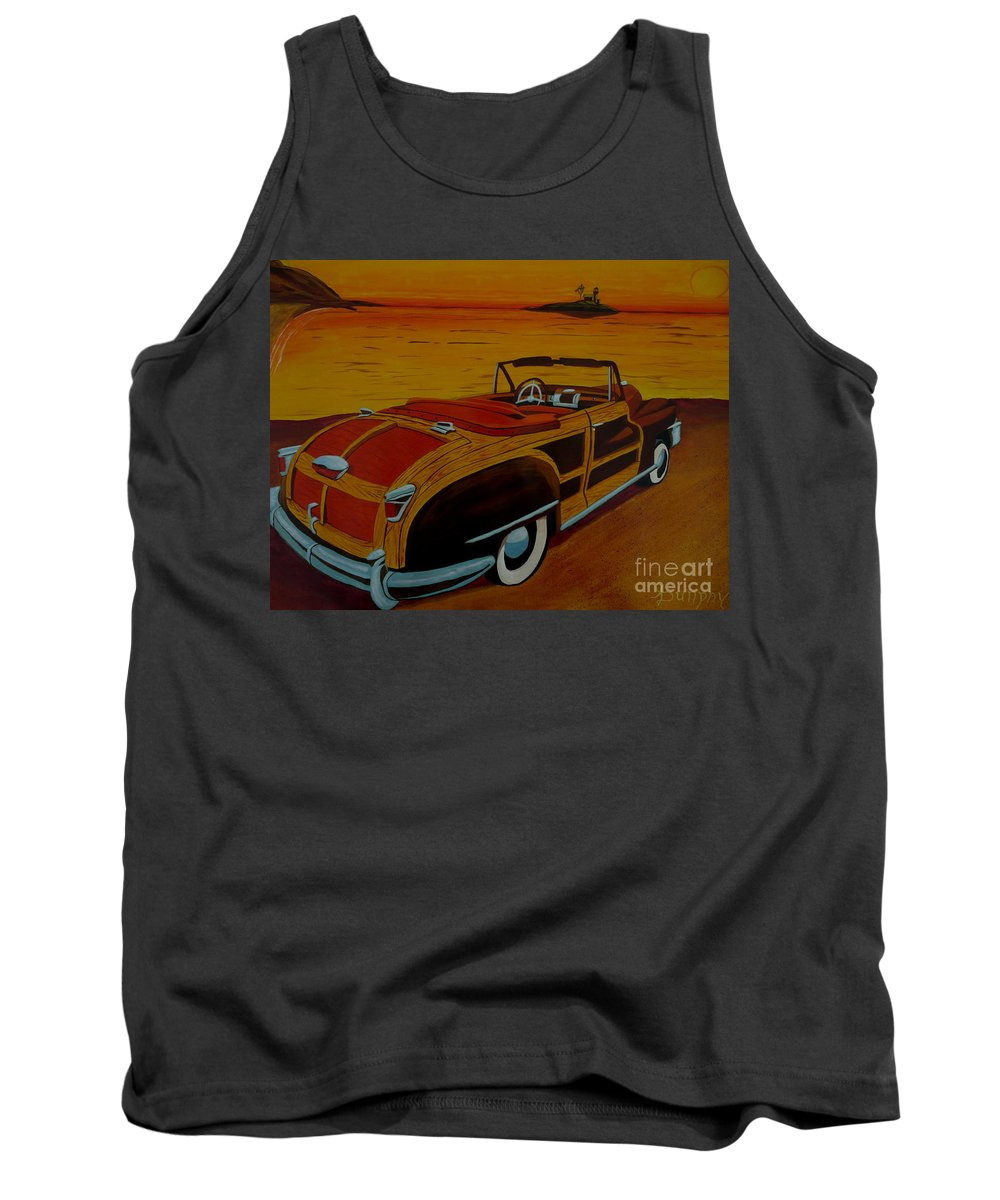 Beach Tank Top featuring the painting California Gold by Anthony Dunphy