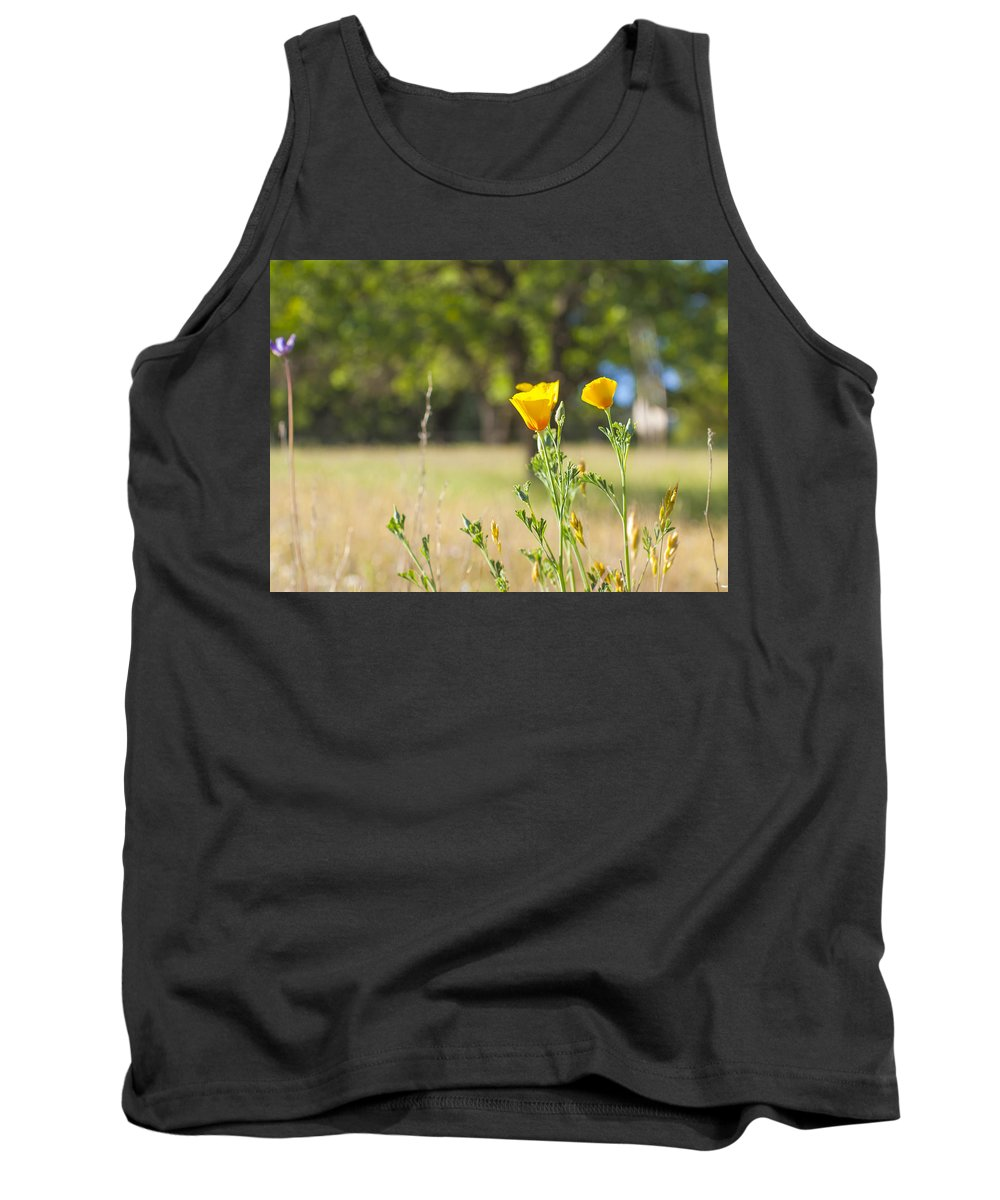 California Tank Top featuring the photograph California Poppy by Gregory Dean