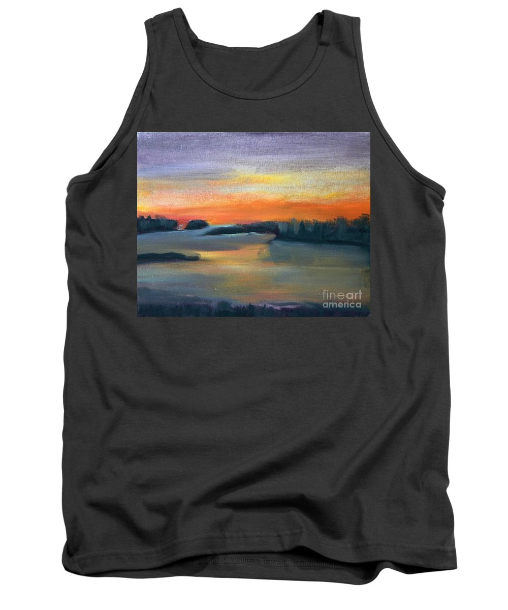 Calm Tank Top featuring the painting Calm Evening by Sean Hughes
