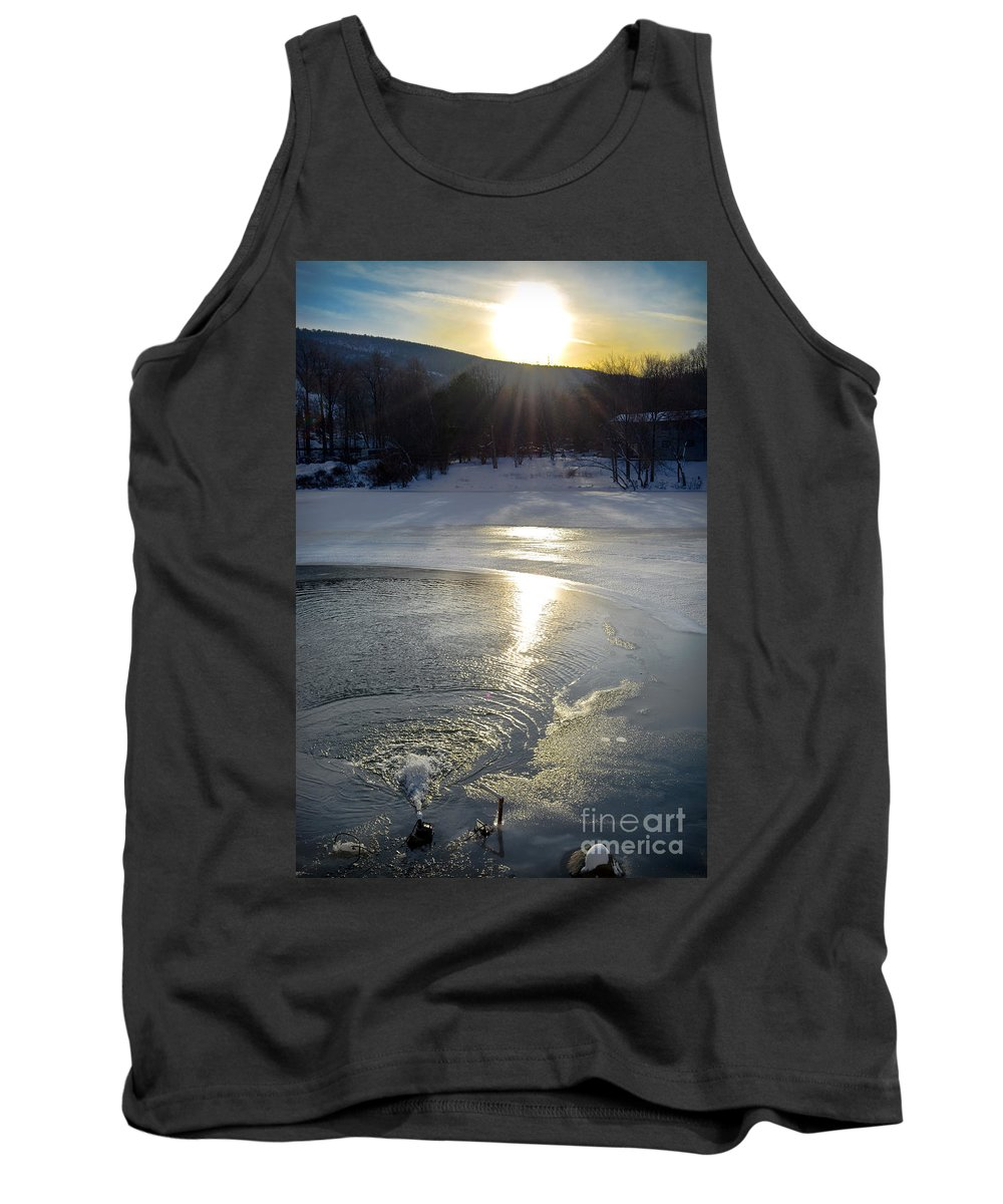 Reflection Tank Top featuring the photograph Camelback Scenic Sunset by Gary Keesler