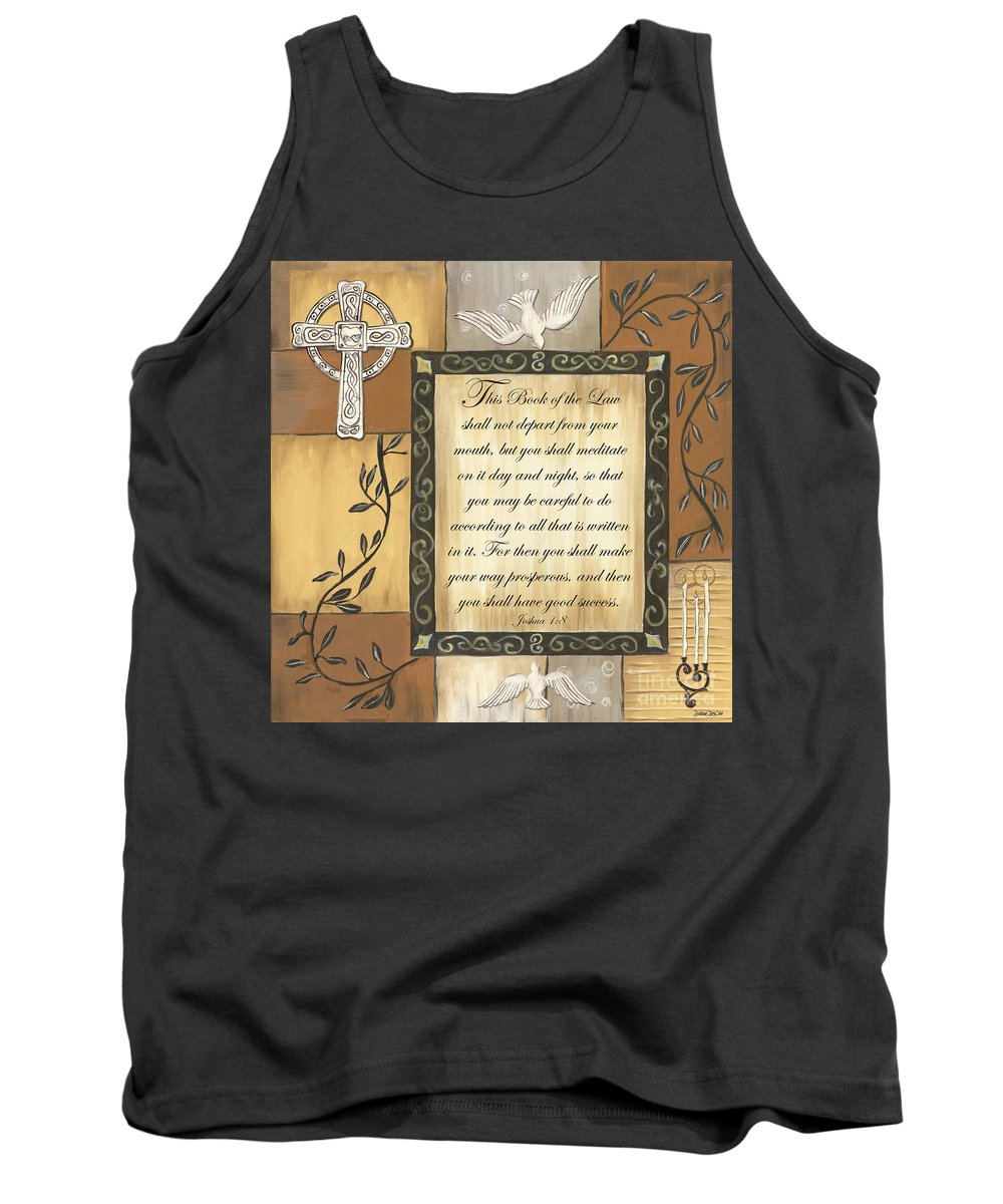 Scripture Tank Top featuring the painting Caramel Scripture by Debbie DeWitt