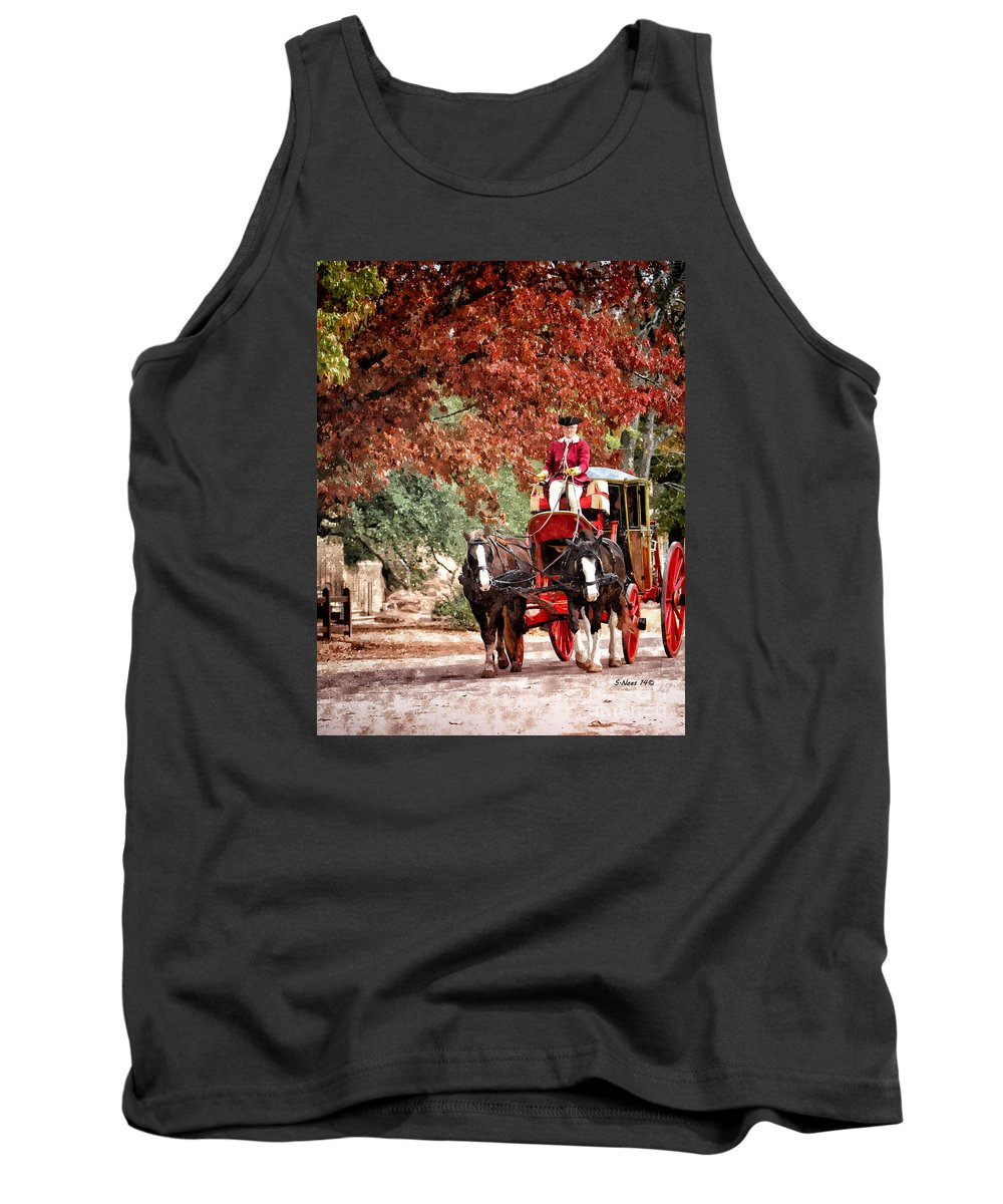 Carriage Tank Top featuring the painting Carriage Ride by Shari Nees