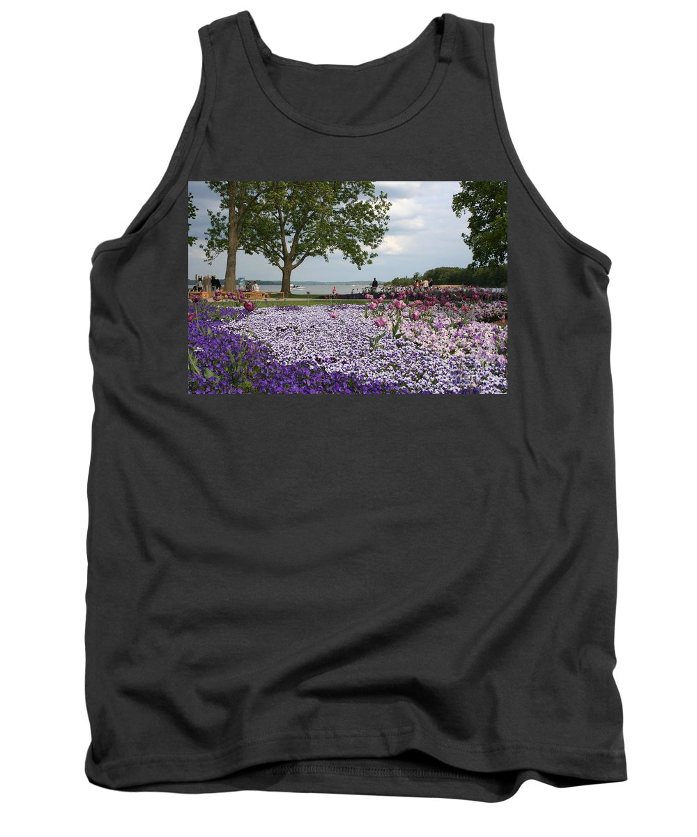 Schwerin Tank Top featuring the photograph Castle Garden Schwerin - Germany by Christiane Schulze Art And Photography