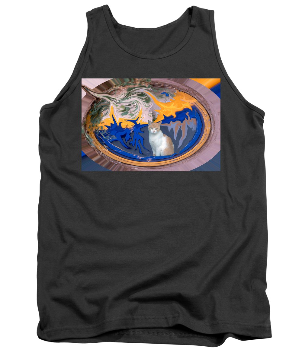 Cat Tank Top featuring the photograph Cat In Doorway Fantasy by Ana Gonzalez
