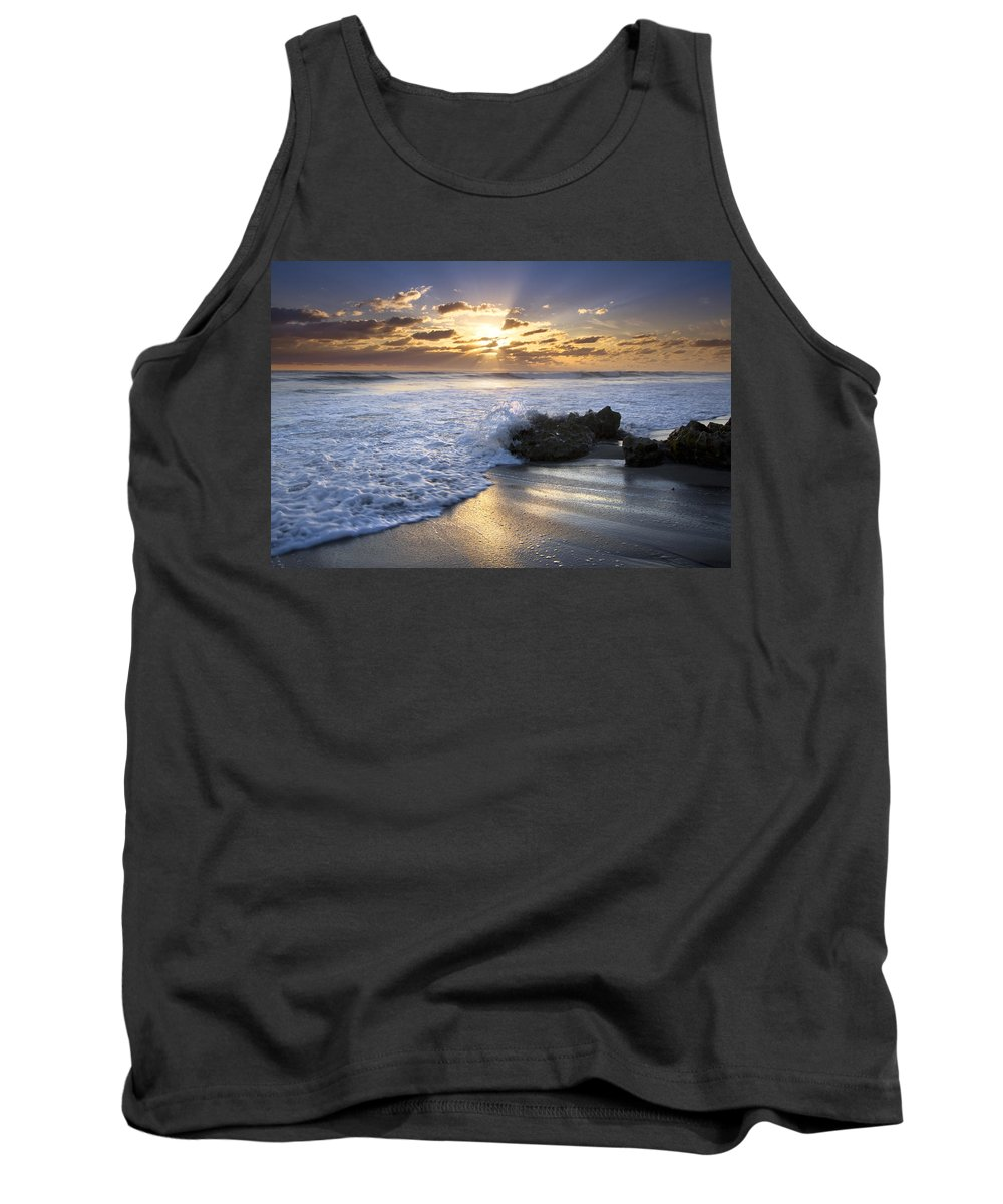 Clouds Tank Top featuring the photograph Catching The Light by Debra and Dave Vanderlaan