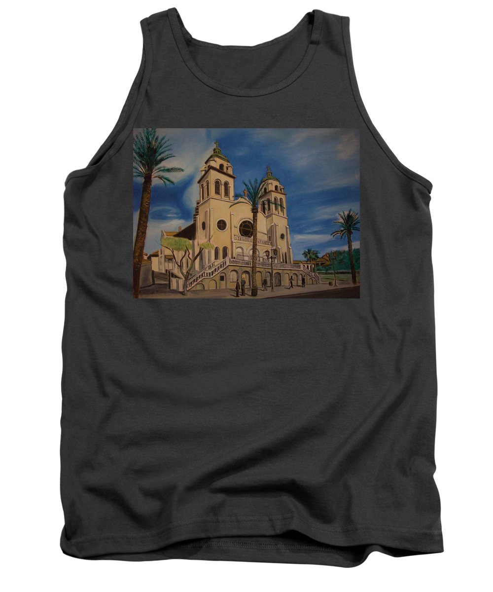 Tank Top featuring the painting Cathedral by Jude Darrien