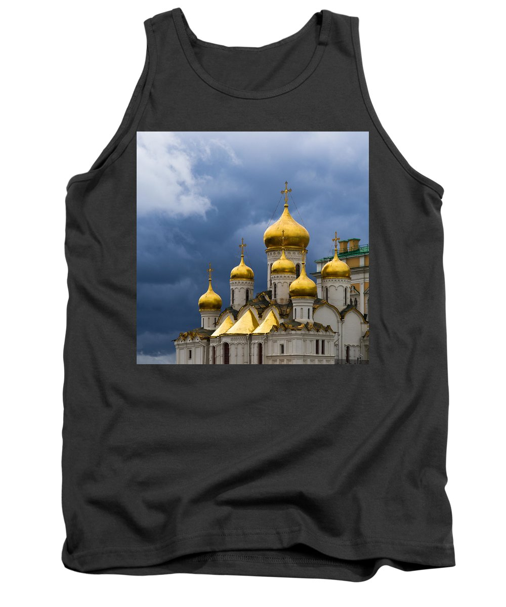 Moscow Tank Top featuring the photograph Cathedral Of The Annunciation Of Moscow Kremlin - Square by Alexander Senin