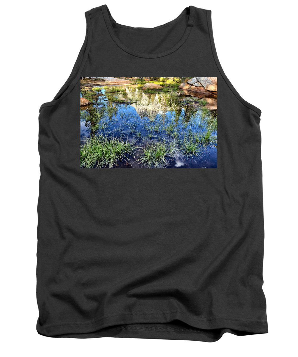 John Muir Trail Tank Top featuring the photograph Cathedral Reflection by Shauna Milton