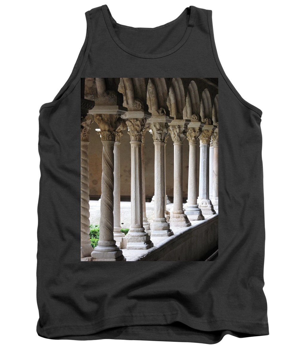 Croos Tank Top featuring the photograph Cathedral St Sauveur - Croos-coat by Christiane Schulze Art And Photography