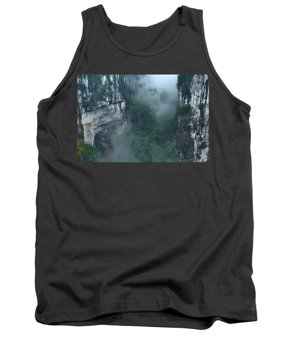 China Tank Top featuring the photograph Caving Expedition To Explore The Caves by Robbie Shone