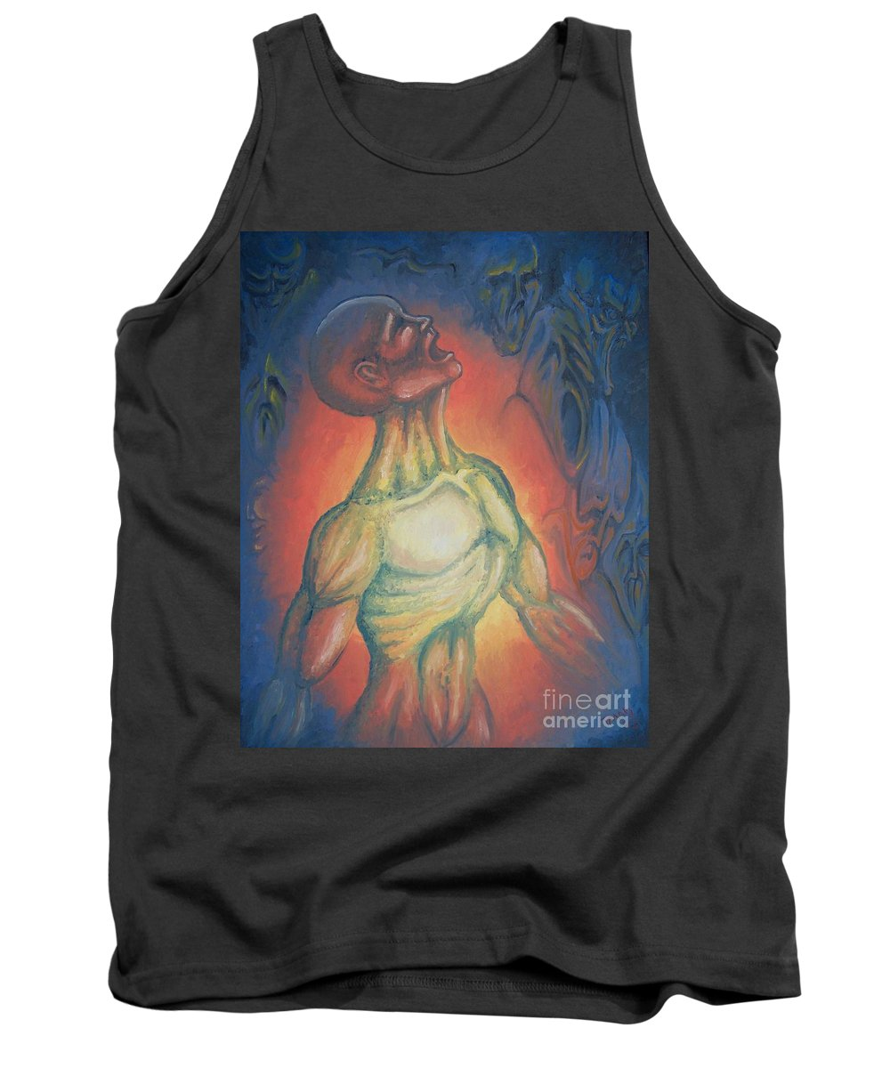 Tmad Tank Top featuring the painting Center Flow by Michael TMAD Finney