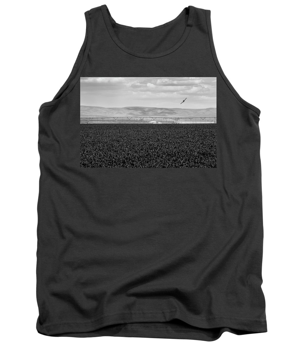 Aeroplane Tank Top featuring the photograph Central Washington, Usa. A Crop Duster by David Hanson