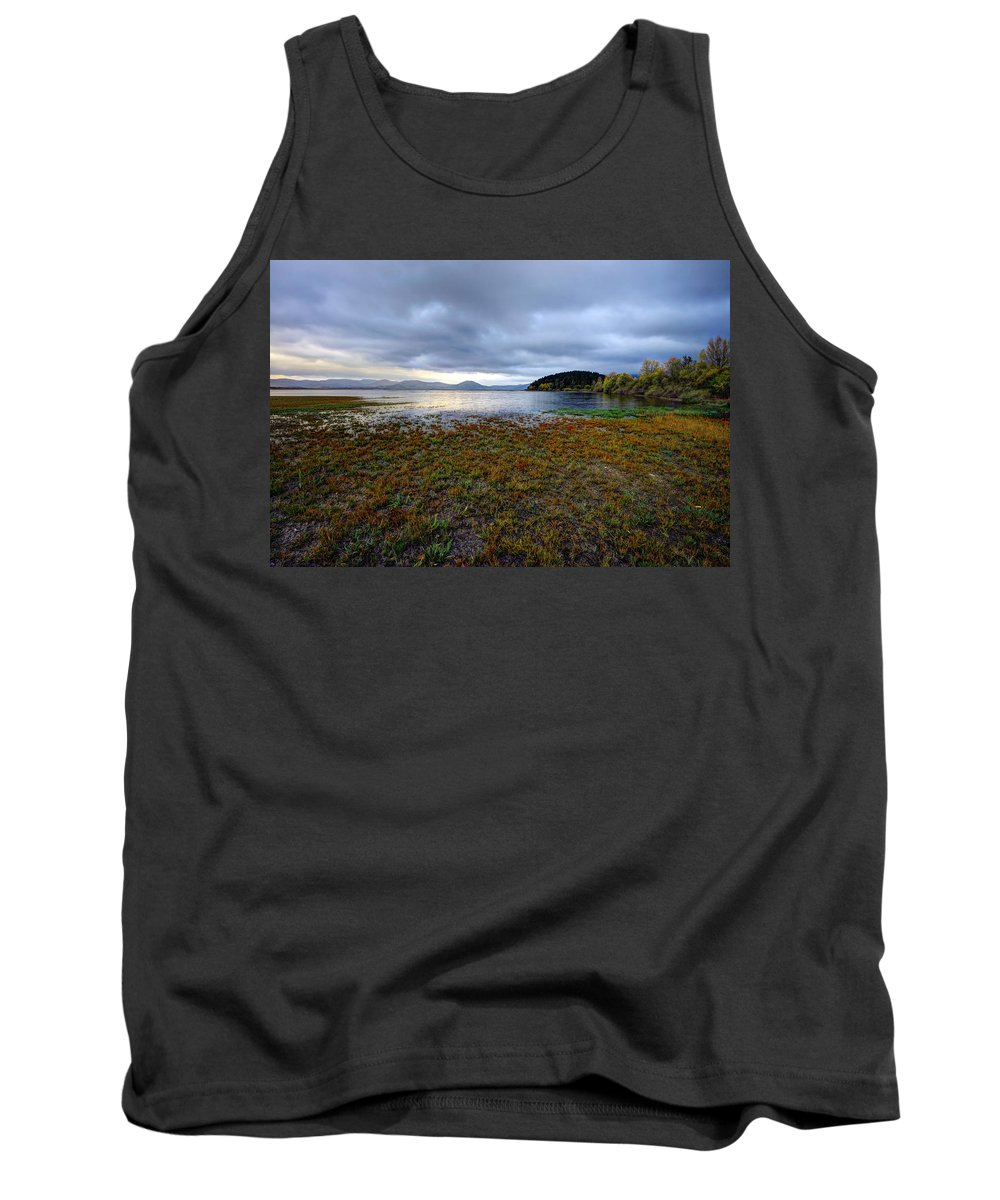 Mountains Tank Top featuring the photograph Cerknica Lake by Ivan Slosar