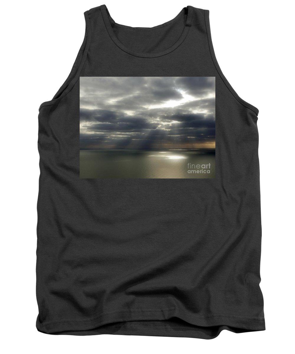 Seascape Tank Top featuring the photograph Channel Sunburst by Callan Art