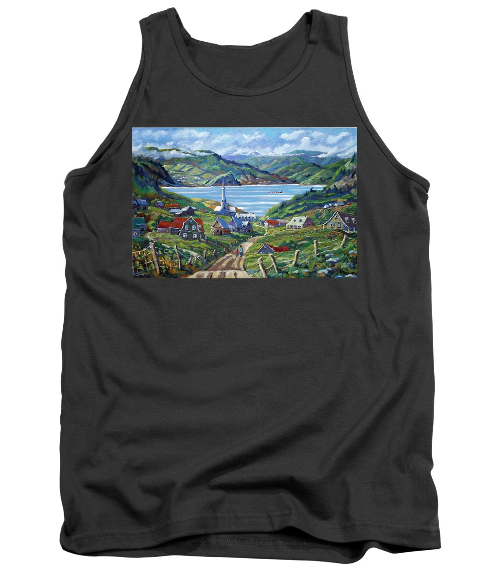 Tank Top featuring the painting Charlevoix Scene by Richard T Pranke