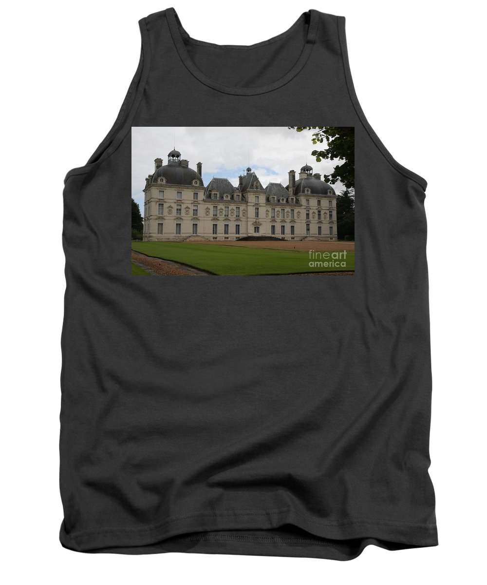 Palace Tank Top featuring the photograph Chateau Cheverney - Front View by Christiane Schulze Art And Photography