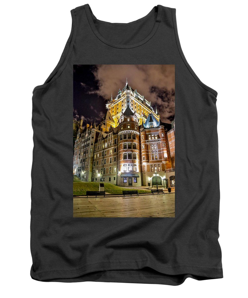 Chateau Frontenac Tank Top featuring the photograph Chateau Frontenac by Bill Lindsay