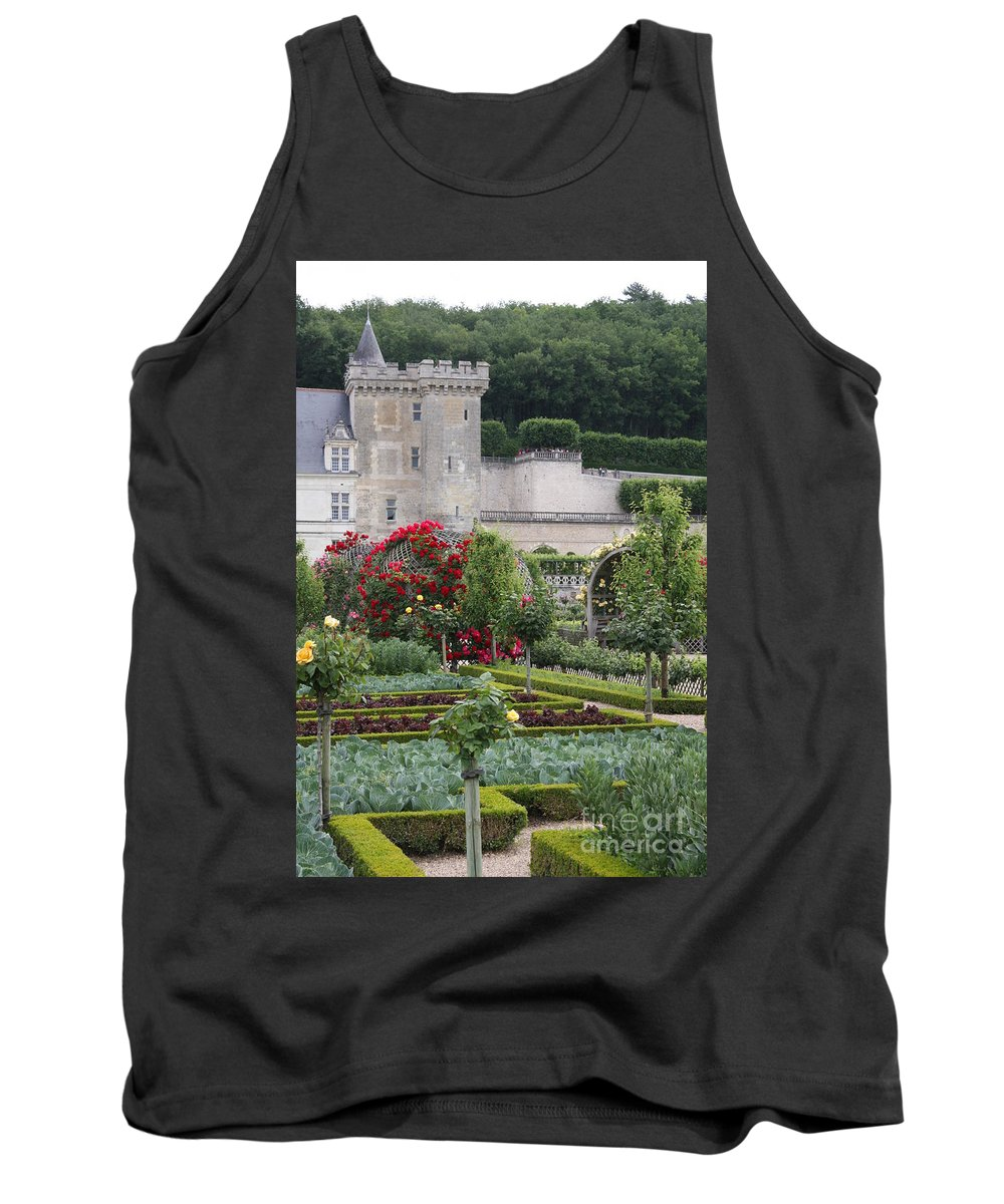 Palace Tank Top featuring the photograph Chateau Villandry And The Cabbage Garden by Christiane Schulze Art And Photography