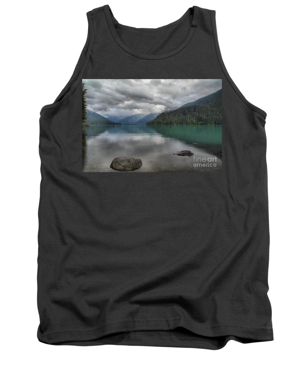 Cheakamus Lake Tank Top featuring the photograph Cheakamus Lake Reflections by Adam Jewell